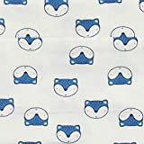 Gerber Baby Boys' 4-Pack Flannel Burp Cloth, awesome fox, 20