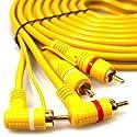 AutoScheich® Cinch Kabel 5m Remote Leitung RCA Verstärker Endstufe Chinch Adapter Stecker KFZ