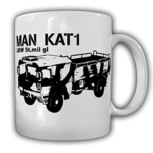 MAN KAT 1 Bundeswehr LKW 5t.mil gl 5 Tonner 4X4 LKW Versorger Transport Oldtimer Militärfahrzeug Militär Fahrzeug - Kaffee Becher Tasse Cup Mug #18534