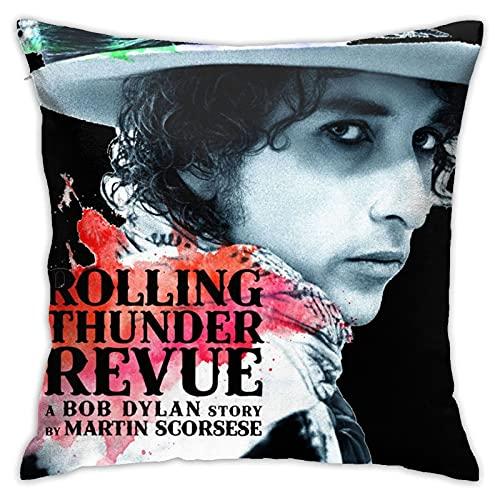 PhyShen Rolling Thunder Revue A Bob Dylan Story Novelty Unique Fundas de Cojines Fundas de Almohada para sofá de Dormitorio Funda de Almohada Cuadrada Decorativa para el hogar Pillow Covers