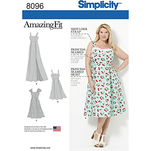 Simplicity 8096 Women's Plus Size Dress Sewing Pattern, Sizes 18W-24W