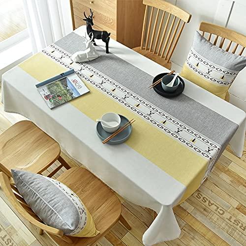 XXDD Mantel Rectangular Impermeable y Resistente al Aceite, Mantel desechable, Mesa de Comedor para el hogar, Mantel para Mesa de Centro, A20, 140x160cm