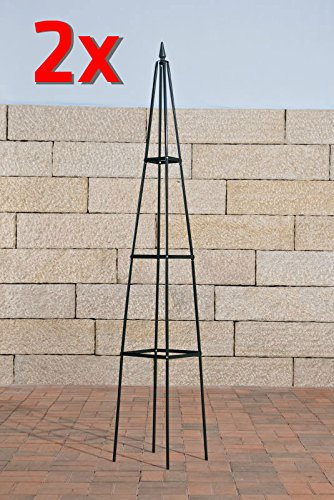 CLP Obelisco Tutor Pyramide De Jardín I Soporte para Plantas Trepador