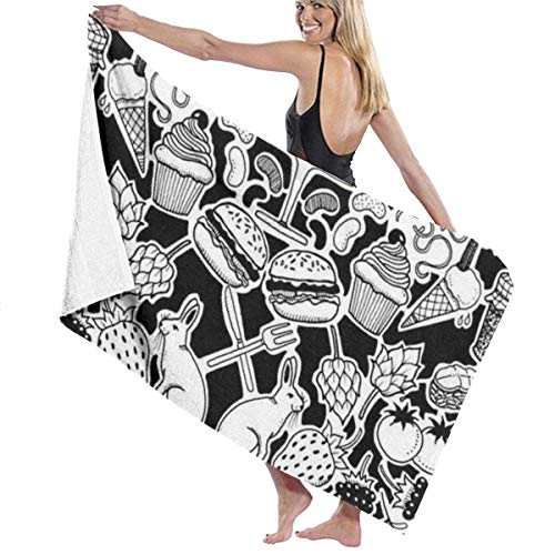 Ewtretr Toalla de Playa Bath Towels The Artistic Design of