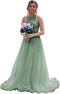 Jonlyc Romantic A Line Beaded Appliques Long Tulle Prom Bridesmaid Dresses Formal Evening Gowns