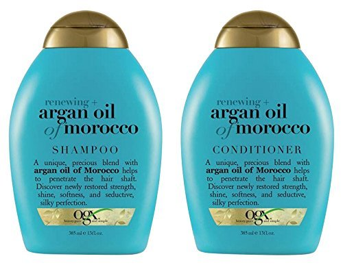 OGX Renewing Argan Oil of Morocco 2er-Set mit Shampoo und Conditioner, 2 x 385ml