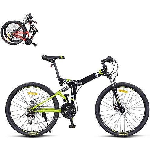 J.W. Faltbares Mountainbike 26 Zoll, 21-Gang-Stahlrahmen Dual-Scheibenbremse-Faltrad, 8 Sekunden Schnelles Fold-MTB-Fahrrad Für City-Radfahren,B