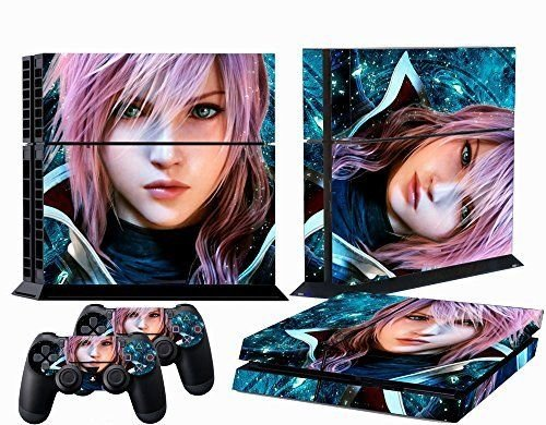 Elton Final Fantasy XIII - theme Decal Skin Sticker for PS4 Console with 2 Controller Skins PS4