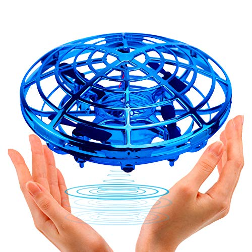 UFO Flying Ball Toys, TURN RAISE Motion Hand-Controlled Suspension Helicopter Toy Infrared Induction Interactive Drone Indoor Flyer Toys With 360°Rotating and Flashing LED Lights for Kids, Boys, Girls