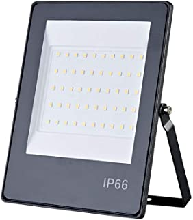 IP66 Waterproof 220V 100W LED Flood Light, Warm White 3000K Outdoor Garden Projector Lighting, for Warehouse, Playground, ...