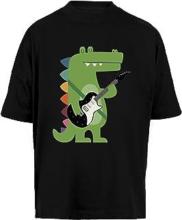 Croco Rock Unisex Camiseta Holgada Hombre Mujer Mangas Kortas - Unisex Baggy T-Shirt Black