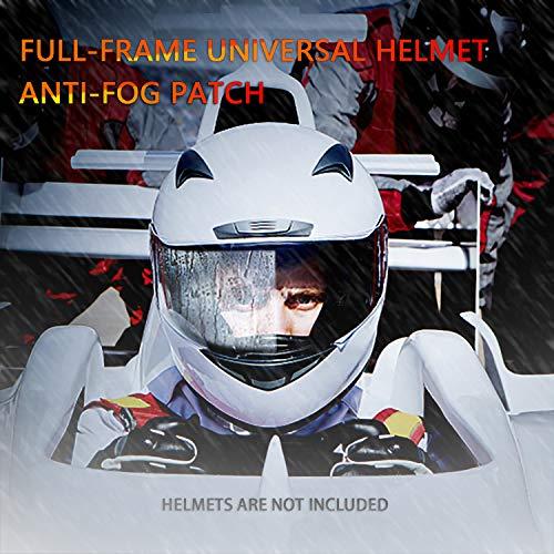 Anti Fog Film for Helmet, Cojzlx Helmet Visor Film Universal Helmet Visor Anti-Fog Waterproof Insert, Helmet Lens Sticker Anti-Fog Film Anti-Fog Shield Film 4PCS