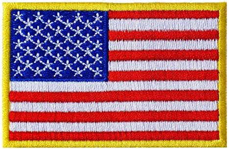 Graphic Dust 3x2 Inches US USA American United States Flag Embroidered Iron On Patch Applique product image