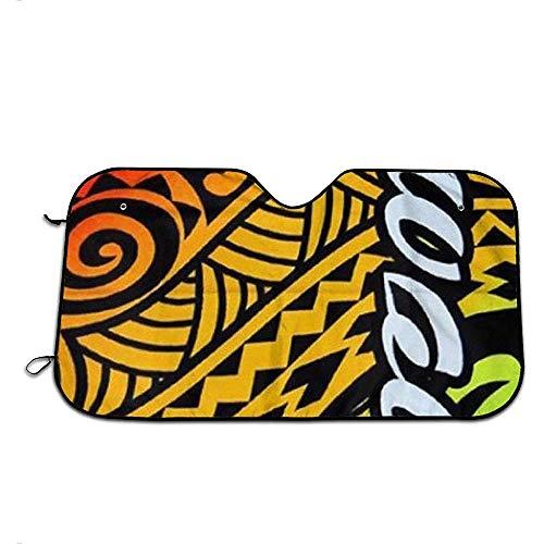 Sonnenschutz Für Die Windschutzscheibe Hawaii Island Impressionen Tribal Sonnenschirme Windschutzscheibe Sonnenblende Sonnenschutzblöcke Strahlen Car Cover Protector Covers Perfekt Für Die Meist