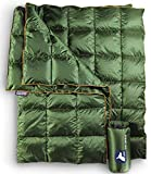 Horizon Hound Down Trek Camping Blanket – Outdoor Lightweight Packable Down Cover, Compact & Water Resistant for Camping Hiking Travel – 650 Fill Power