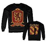 HARRY POTTER Oficialmente Licenciado Inked Gryffindor 07 Sudaderas (Negro) Large