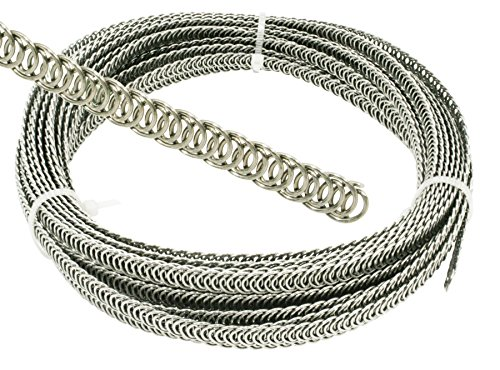 Spiralfedern Korsettstäbe Korsett Stäbe, 7 mm 1,4 mm Edelstahl Meterware