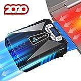KLIM Cool + Base de Refrigeración para Portátil en Metal - La Más Potente - USB con Aspiradora de Aire para Enfriamiento Inmediato - Base Refrigeradora para el Recalentamiento [Nueva Versión 2020 ]