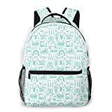 LNLN Sac à Dos de randonnée Dentist Orthodontics Print Lightweight Backpacks Casual School Bags Daypacks for Kis Adult