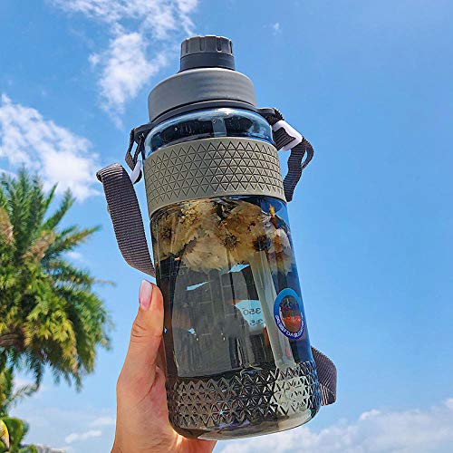 GWYJ Leak Proof Sports Water Bottle -  BPA Free  - Filter for Fruit Infusion - Adults  Kids Ergonomic Water Bottle for Running  Cycling  Yoga  Camping@Gray_1000ML