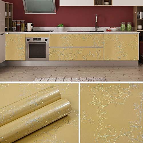 Dikke zelfklevende behang waterdicht wasbare imitatie marmer meubilair Stickers TV achtergrond behang 0.6m * 5m Laser Champagne Gold