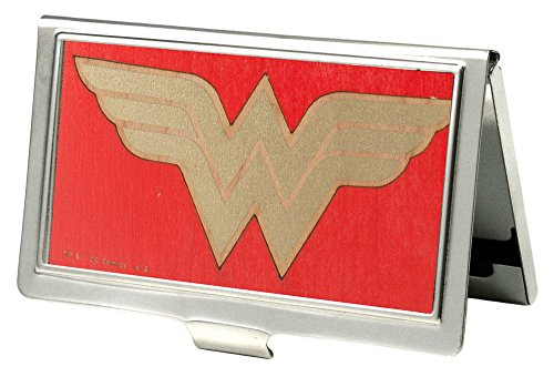 Buckle-Down Business Card Holder - Wonder Woman GW Red/Gold - Small