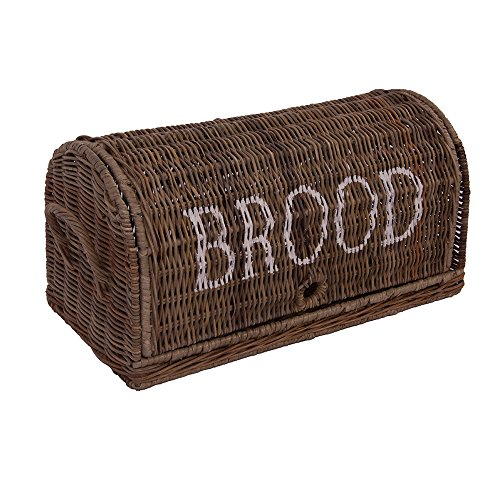 Brotbox Brood klein Rattankorb Brotkorb Aufbewahrung Naturrattan