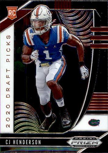 2020 Panini Prizm Draft #157 CJ Henderson Draft Picks Florida Gators RC Rookie Football Trading Card