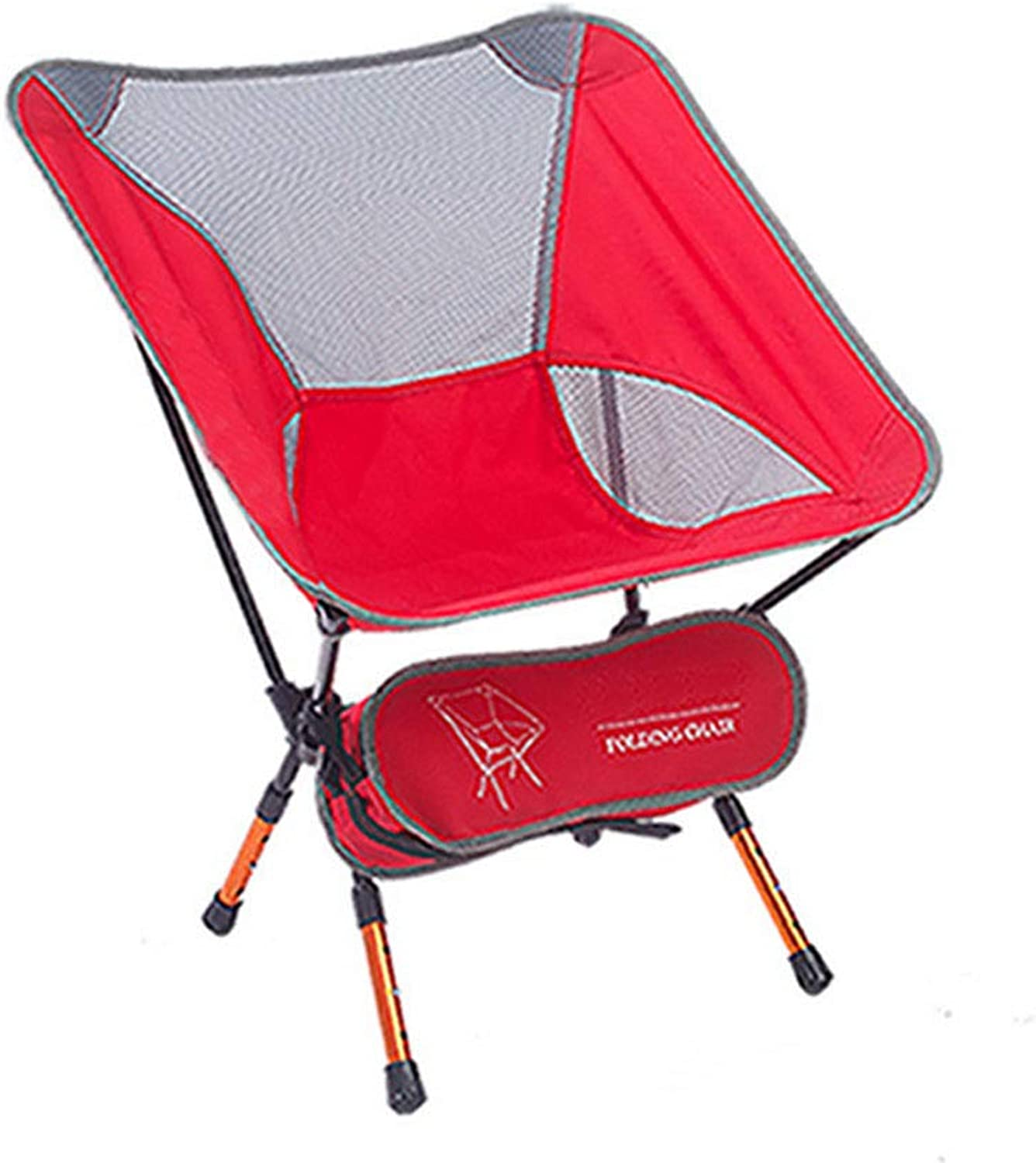 Foldable Fishing Chair Compact Camping Chair with Cooler Bag for Fishing, Camping, Hiking, Supports 130kg