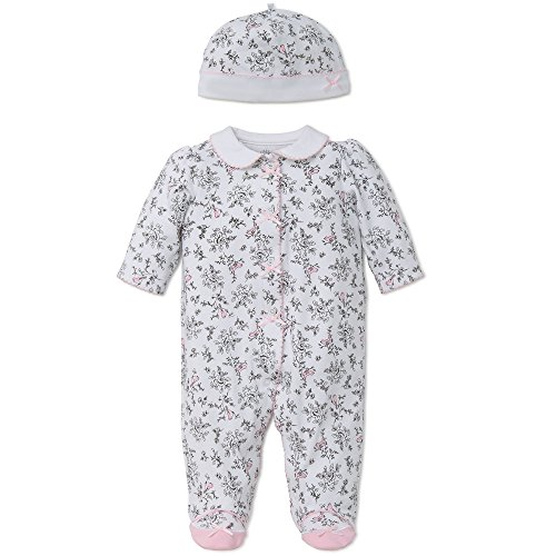 Little Me Baby Toile Footie with Hat, Bird, 9 Months