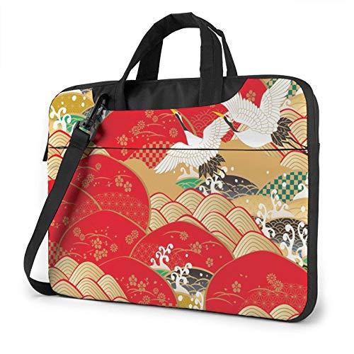 Laptop Messenger Laptop Bag Año Nuevo Japón China Asia Bolso de Hombro Maletín Oficina Funda para Laptop Funda Satchel Tablet para Hombres Mujeres