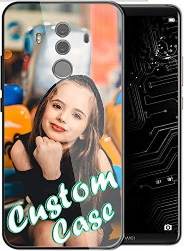 Diseño personalizado hecho teléfono cubierta cubierta cubierta de la caja del teléfono móvil imprimible vidrio templado cubierta para Huawei Mate 10 pro con 1Pack protector de pantalla (vidrio)