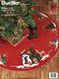 Bucilla Decorating the Tree 43' Round Christmas Tree Skirt Felt Applique Kit
