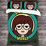 Sick.Sad World - Juego de cama de 3 piezas (200 x 180 cm, poliéster supersuave, para dormitorio)