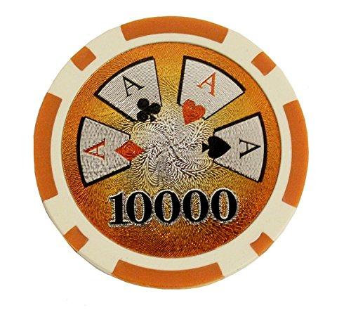 50x Pokerchips, Wert 10000, 12 g