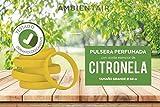 Ambientair Pulsera antimosquitos, 1 Pieza. 330 Horas de duración. Repelente Natural de citronela. Protección contra Insectos para Adultos y niños. (Amarillo, 68)