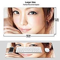 安室奈美恵 マウスパッド 光学マウス対応 パソコン 周辺機器 超大型 防水 洗える 滑り止め 高級感 耐久性が良い 40*75cm