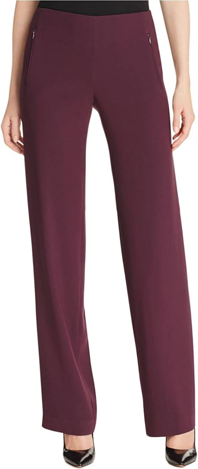 Elie Tahari Womens Odette Stretch Crepe Dress Pants