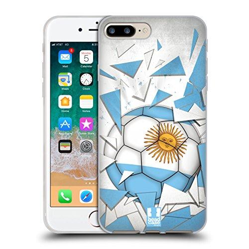 Head Case Designs Argentina Saltos de Fútbol Carcasa de Gel de Silicona Compatible con Apple iPhone 7 Plus/iPhone 8 Plus