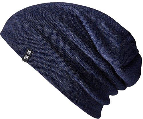 Enter the Complex®Merino Beanie, Merino Mütze aus 100% Merino Wolle, Warm und Dünn, Zweilagig, Damen und Herren, Navy