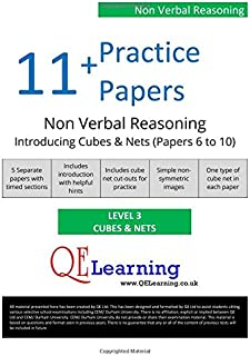 11+ Practice Papers - NVR Introducing Nets & Cubes - Level 3 - Papers 6 to 10