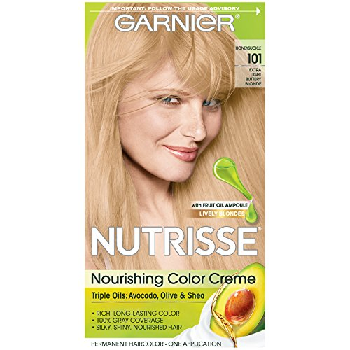 Garnier Nutrisse Nourishing Hair Color Creme, 101 Light Buttery Blonde (Packaging May Vary)