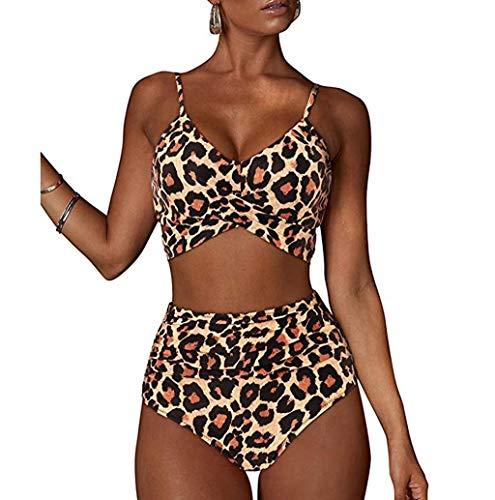 Damen Crossover Bikini Oberteil Set TWBB Badeanzug Strandkleidung Neckholder Triangel Strandmode Hohe Taille Bauchweg Badeanzug Einfarbig Swimsuits Zweiteilige