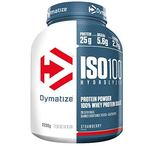 ISO 100 Hydrolyzed Protein Powder, Strawberry