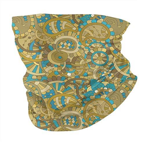 Paisley sin costuras patrón libre polaina cuello variedad cabeza bufanda pasamontañas multifuncional para hombres mujeres