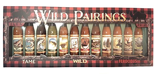Wild Pairings Hot Sauce Collection Variety Pack - Holiday Idea Stocking Stuffer for Men and Women