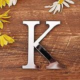 Spiegel Buchstaben Wandaufkleber, 3D DIY Kreativ Acryl 26 Alphabet Buchstaben abnehmbare Wandsticker Decals Für Wohnzimmer Schlafzimmer Wohnkultur (K)