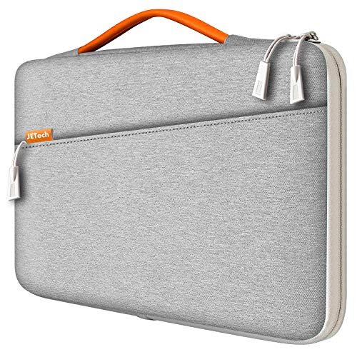 JETech Laptop Sleeve for 13.3-Inch Tablet, Waterproof MacBook Case with Portable Handle, Compatible with 13' MacBook Pro and MacBook Air, 12.3' Surface Pro, Surface Laptop 2017/2018 (Light Grey)