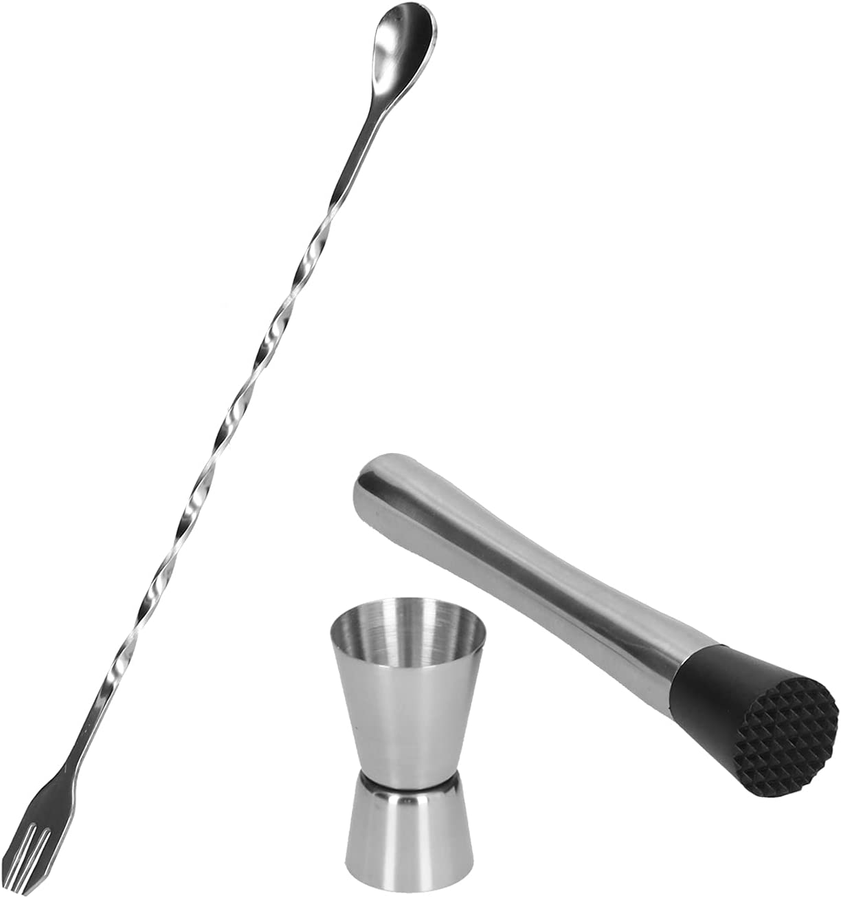 Cocktail Jigger Stainless Steel Appearance Material Long Beach Mall Manufacturer direct delivery Streamlined
