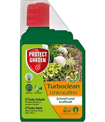 PROTECT GARDEN Turboclean Unkrautfrei (ehem. Bayer Garten), Unkrautvernichter gegen hartnäckige Unkräuter wie Giersch und Ackerschachtelhalm, 500 ml